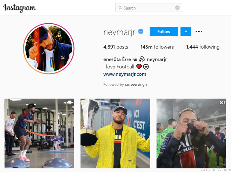Who has the most followers on instagram top 10